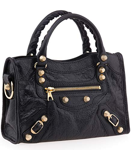 Balenciaga Giant 12 Gold Mini City Bag, Black