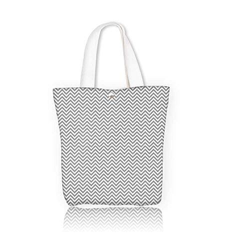 Canvas Tote Bag in zigzag Hanbag Women Shoulder Bag Fashion