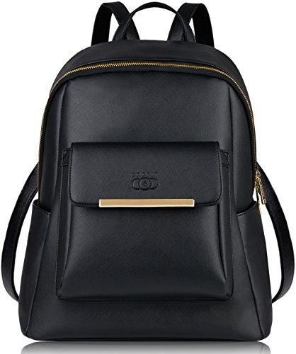 COOFIT Leather Backpack For Girls, Waterproof Fashion Backpack