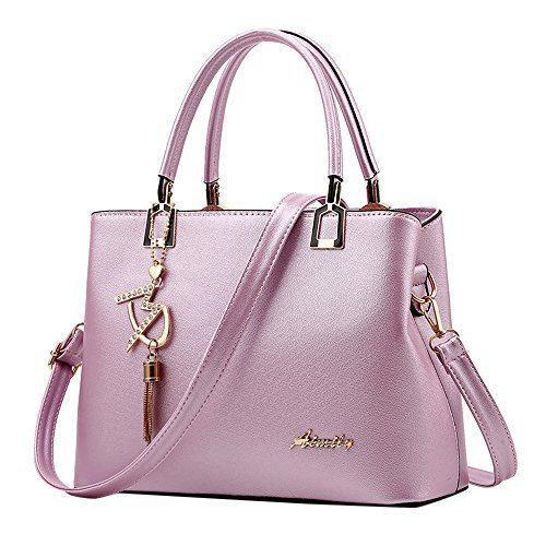 TEARWIN Women Leather Hangbag Ladies Tassel Top Handle Shoulder Tote Bag
