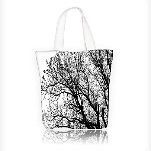 Canvas Shoulder Hand Bag Branches Tops Oak Woodland Season Eco