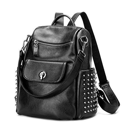 Leather Backpack for Women, Wraifa Washed Leather Handbag