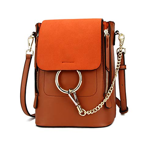 Olyphy Fashion Leather Chain Backpack Women, Designer Mini Shoulder Bag
