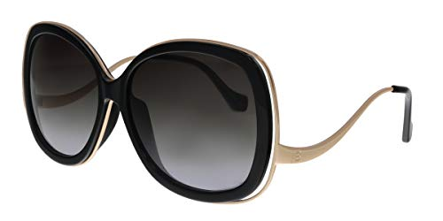 Balenciaga Black/Gold Square Sunglasses for Womens