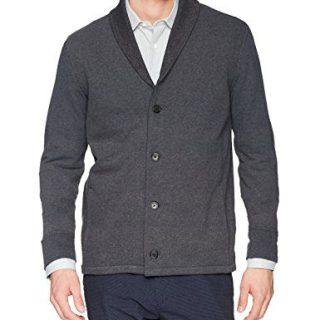 Billy Reid Men's Elliot Knit Shawl Collar Jacket, Charcoal, M