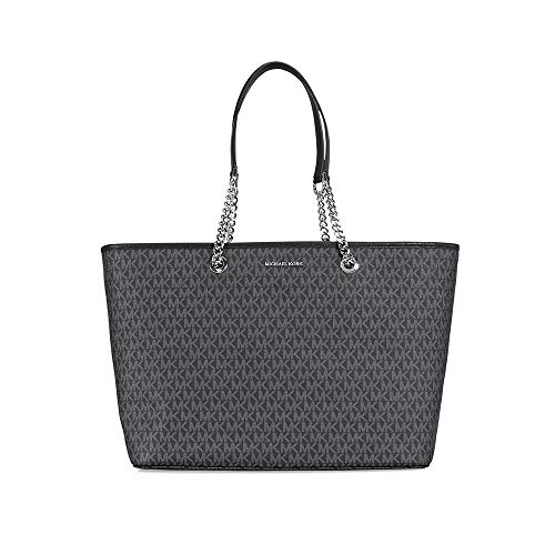 MICHAEL Michael Kors Womens Jet Set Organizational Tote Handbag Black Large