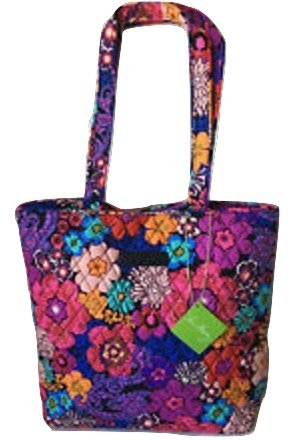 Vera Bradley Tote Floral Fiesta with Black Interior