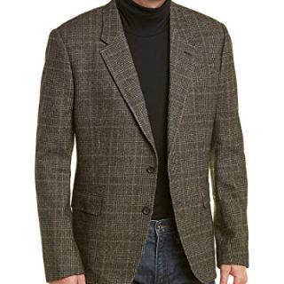 Billy Reid Mens Walton Wool-Blend Sportcoat, 44R, Grey