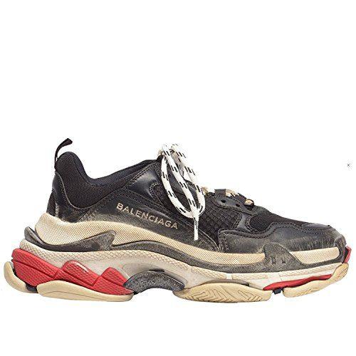 Balenciaga Men's & Women's Vintage Triple S Trainers Fashion Sneakers Black (Size 38)