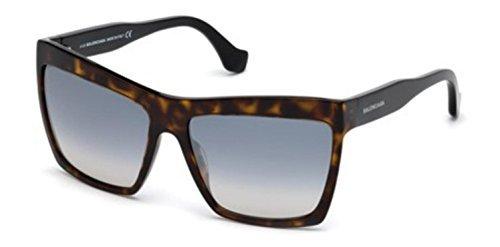 Balenciaga BA0089 Dark Havana/Flash Gradient Azure Fashion Sunglasses
