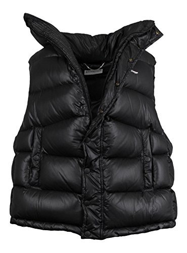 Balenciaga Black Down Filled Oversized W/Scarf Puffer Jacket Vest Size 36/0
