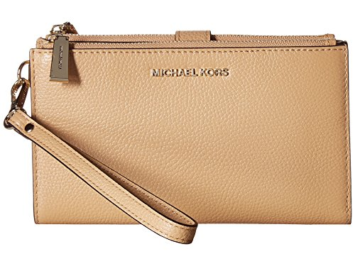 MICHAEL Michael Kors Adele Pebbled Leather Smartphone Wristlet - Butternut