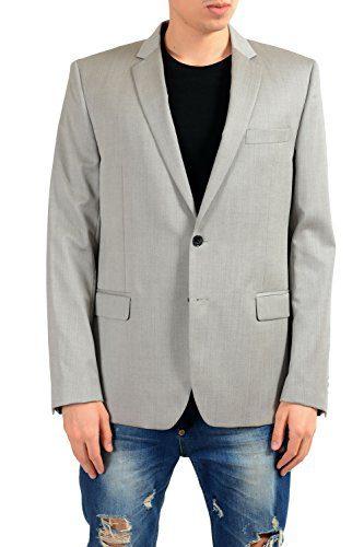 Versace Collection Men's 100% Wool Gray Blazer Sport Coat