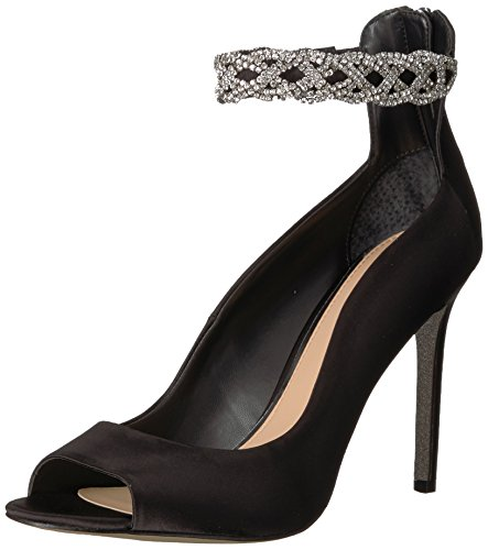 Badgley Mischka Jewel Women's Alanis Heeled Sandal, Black