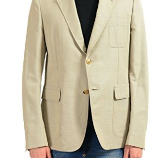 Gucci Men's Mohair Beige Two Button Blazer Sport Coat