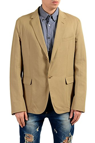 Gucci Men's Linen Khakis Two Button Blazer Sport Coat