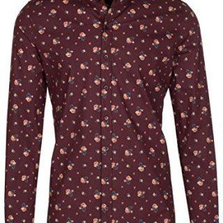 Dolce & Gabbana Men's 'Sicilia' Red Roses Floral Print Button Down Dress Shirt