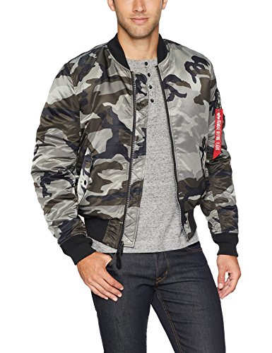 Alpha Industries Men's Slim FIT MID Length Flight Jacket