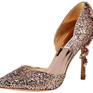 Badgley Mischka Women's Vogue III Pump, Rose Gold/Multi