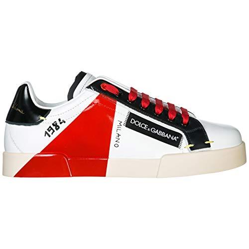 Dolce & Gabbana Men Portofino Sneakers Bianco/Rosso 9.5 US