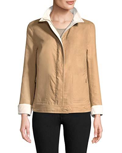 Akris Womens Wool Blend Choice Jacket, 12 Tan