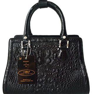 Authentic M Crocodile Skin Womens Hornback W/Straps Bag