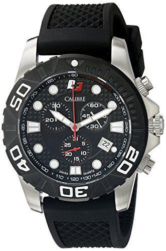 Calibre Men's Akron Analog Display Quartz Black Watch