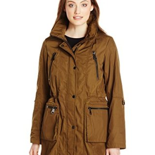 Marc New York by Andrew Marc Women's Anorak with Mesh Lining, Moss, Large