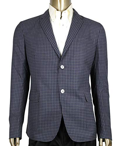 Gucci Formal Midnight Blue/Grey Wool Jacket 2 Buttons