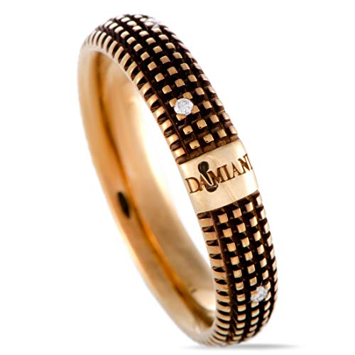Damiani Metropolitan 18K Yellow Gold and Brown Rhodium 9 Diamonds