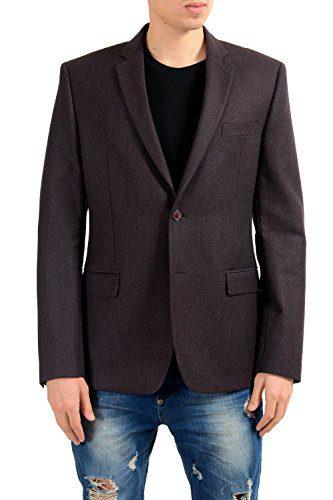 Versace Collection Men's 100% Wool Two Button Blazer Sport Coat
