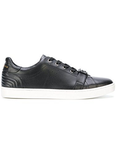 Dolce e Gabbana Men's Black Leather Sneakers