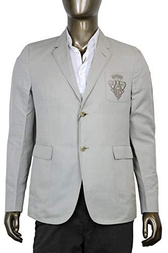 Gucci Hysteria Crest Beige Cotton Linen Blazer Jacket Beige