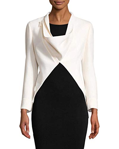 Akris Womens Calla Wool Blazer, 4 White