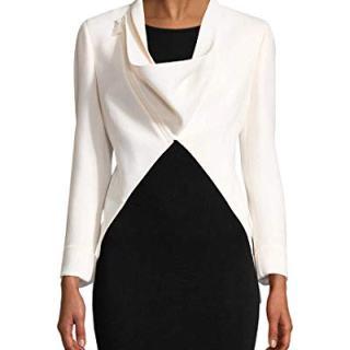 Akris Womens Calla Wool Blazer, 4 White