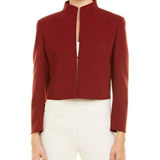 Akris Womens Wool-Blend Jacket, 14, Red