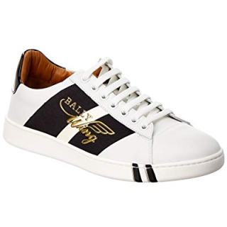BALLY Leather Sneaker, 39, White