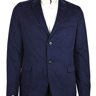 Gucci Men's Caspian Brushed Blue Cotton 2 Buttons Jacket