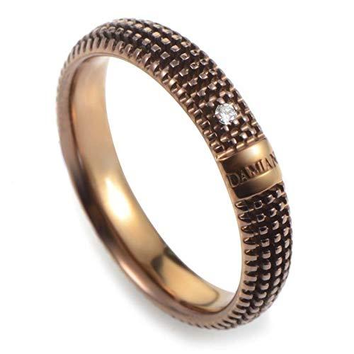 Damiani Metropolitan 18K Brown Gold 1 Diamond Textured Band Ring