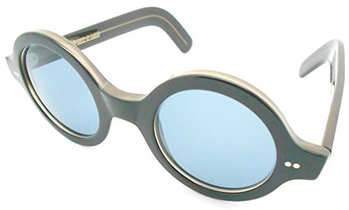 Cutler and Gross Round Black Sunglasses