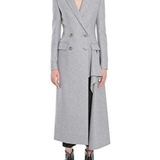 Alexander McQueen Women's Grey Cashmere Coat