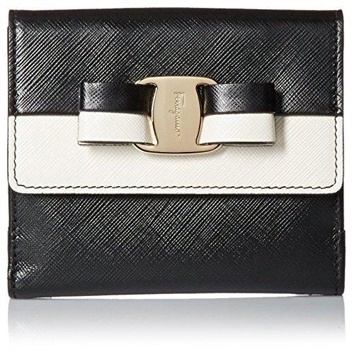Salvatore Ferragamo Women's Vara French Wallet, Black/White