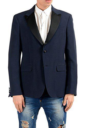 Versace Collection Men's Wool Blue Blazer Sport Coat