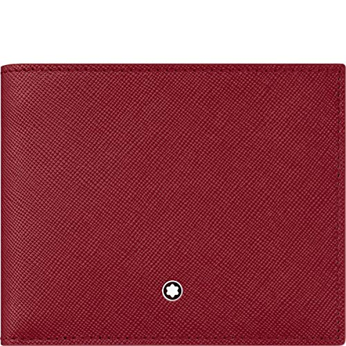 Montblanc Sartorial Wallet 6cc Red Leather