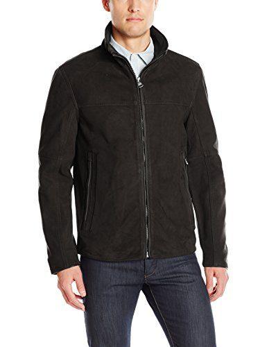 Andrew Marc Men's Calyer-27 Nubuck Stand Collar Open Bottom Jacket