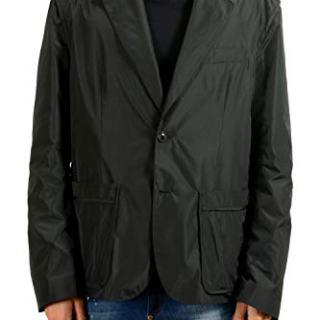 Versace Men's Black Two Button Blazer Sport Coat
