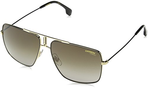 Carrera 1006/s Rectangular Sunglasses, Black & Gold, 14 mm