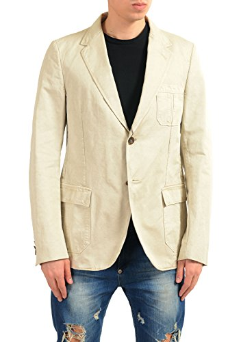 Gucci Men's Beige Two Button Blazer Sport Coat