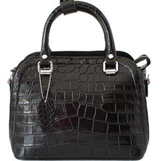 Authentic M Crocodile Skin Womens Belly W/Strap Clutch Bag
