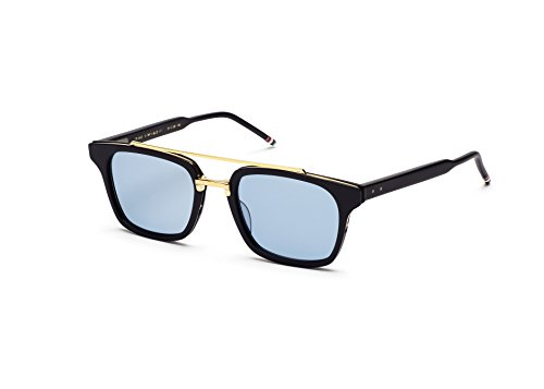Sunglasses THOM BROWNE Shiny Navy18k Gold w/Dark BlueAR